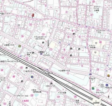 板橋若木土地広域地図